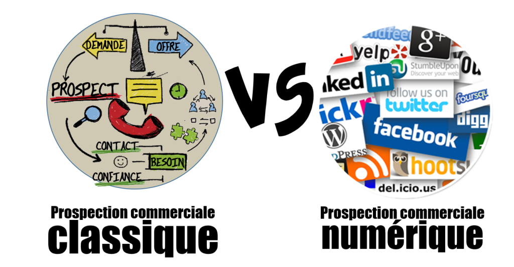 Prospection Commerciale vs Digitale