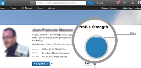 Profil Linkedin All star