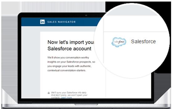 Sales Navigator CRM Widget
