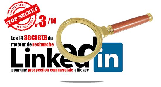 Secret 3 de la recherche Linkedin: les 9 filtres de la recherche standard.