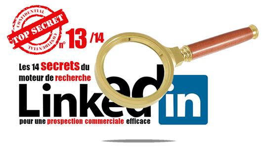 Secret 13 de la recherche Linkedin : Afficher 10 fois plus de réponses