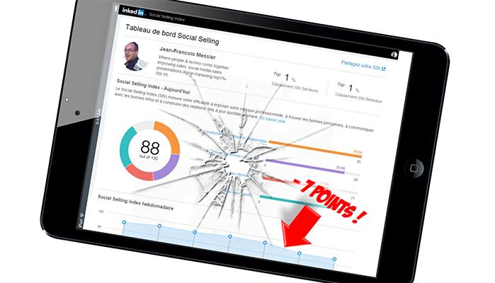 Pourquoi votre SSI LinkedIn vient de baisser de 7 points?